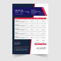 Modern minimal business invoice template