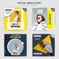 Geometric social media post design template