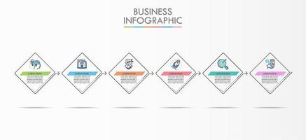 Modello di Infographic Square Timeline Business