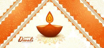 Fondo de festival de tarjeta creativa feliz diwali