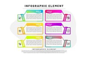 Plantilla de infografía con gradiente