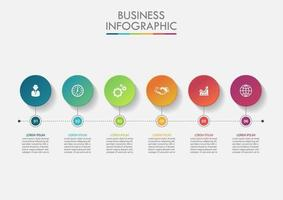 Business data circle timeline infographic
