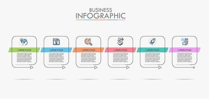 Business data visualization info chart