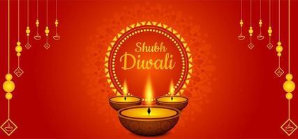 Diseño creativo de la plantilla del festival de Diwali