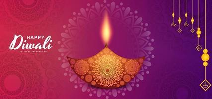 Fondo del festival de Diwali Adorno floral redondo