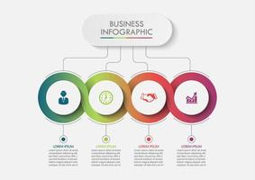 Business Circle data visualization vector