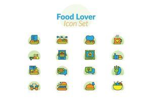 Mat älskare Ikonuppsättning
