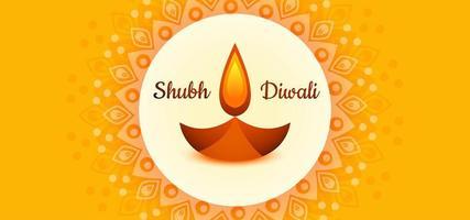 Plantilla de diseño de papel tapiz Happy Diwali