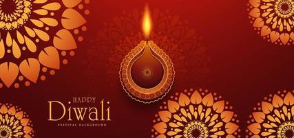 Elegante diseño de tarjeta del festival tradicional indio Diwali