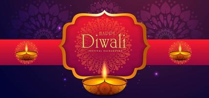 illustrazione di masterizzazione diya su sfondo Diwali Holiday