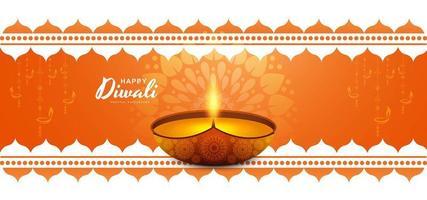 Fondo decorativo feliz festival de la tarjeta de diwali