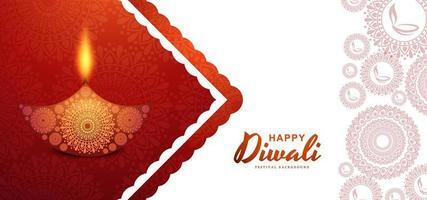 Hindu diwali festival banner background  vector