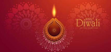 Fondo de vector artístico festival hindú diwali