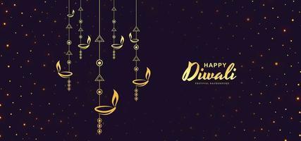 Tarjeta para la feliz noche de celebración del festival diwali