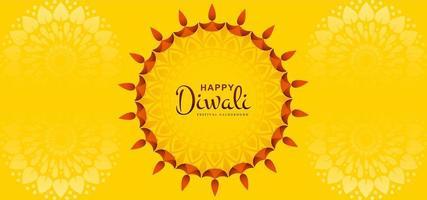 Tarjeta de felicitación de Sun Design del fondo del festival Diwali