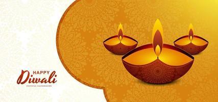 Creativo stile piatto diwali saluto sfondo
