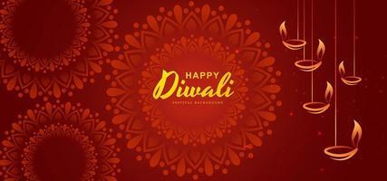 Diwali festival Biglietto di auguri con elementi Diwali