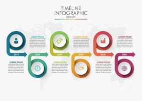 Timeline Infographic Concept vector
