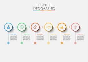 Cerchio di dati aziendali infografica