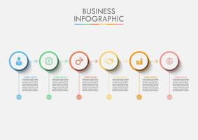 Infográfico de círculo de dados comerciais