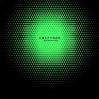 Gradient halftone green dots background