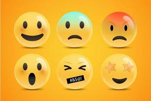 Emoji Feeling Faces  vector