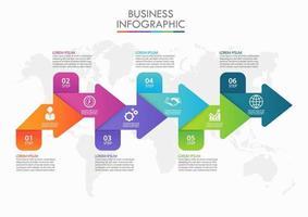 Modello di business freccia freccia infografica