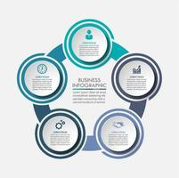 Business circle timeline infographic