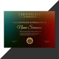 Certificate of appreciation award colorful template