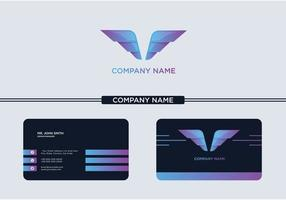 Creative Wings Logo and Business Card vector