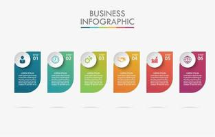 Business timeline icon template vector