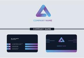 Creative Letter A Logo Business Card For Company Or Store vector