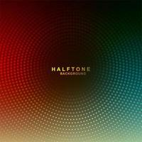 Circular Gradient colorful halftone background vector