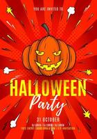Halloween Party Poster with Jack-O-Lantern