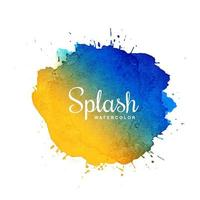 Splash watercolor blot with multicolor design