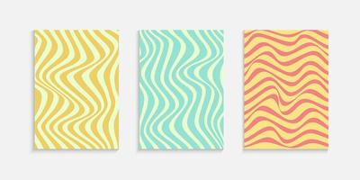 Minimal Cover design template with wavy lines	 vector