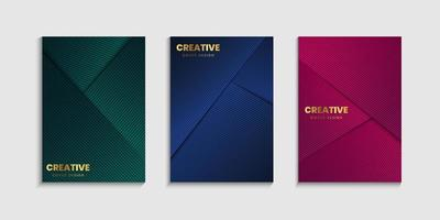 Set of luxury cover background vector