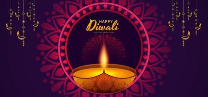 Fondo creativo de Diwali feliz plantilla de diseño de fondo