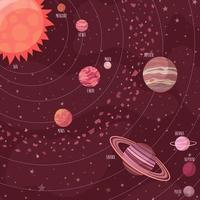 Space background in cartoon style
