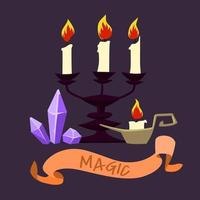 Magische kaarsen en kristallen