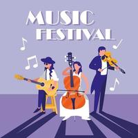 orchestra playing instrument in concert vector