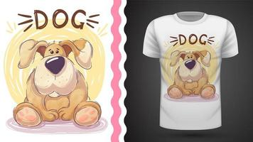 Tee shirt Cute big dog - idea for print