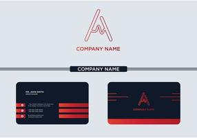 Creative Letter A Logo and Business Card vector