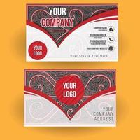 Set of business cards with Gorga Batak Indonesian motif