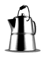 Engraved Coffee Pot vector