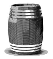 Barril viejo grabado vector