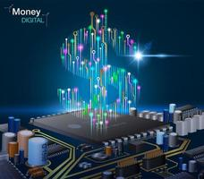 Electronic digital money with circuits