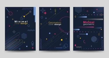 Minimalist cover on dark background with geometric shapes