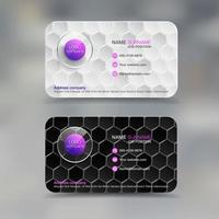 Tarjeta de presentación comercial con patrón de diamantes