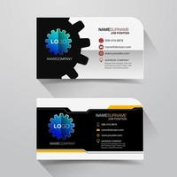 Business name card with gear design